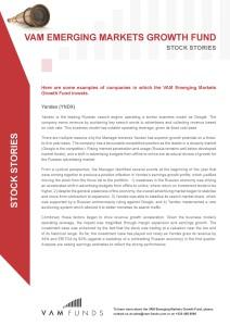 Emerging Markets Growth Fund